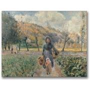 "Trademark Global Camille Pissarro ""In the Garden"" Canvas Arts"