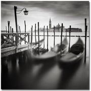 "Trademark Global Nina Papiorek ""Venice Gondolas"" Canvas Arts"
