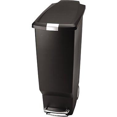 Simplehuman® Slim Step Trash Cans, Plastic, 10.5 Galleon