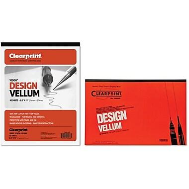 Chartpak® ClearPrint Plain Vellum Pads, 16 lb, 50 Sheets/Pad
