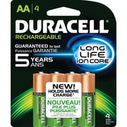 Duracell® Precharged Rechargeable Batteries, 4/Pack
