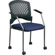 Office Star Proline II® Fabric Titanium Finish Guest Chairs with Plastic Wrap Around Back