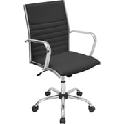 Lumisource Master Leatherette Mid Back Office Chairs