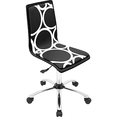 Lumisource PVC Foam Mid Back Black Printed Computer Chairs