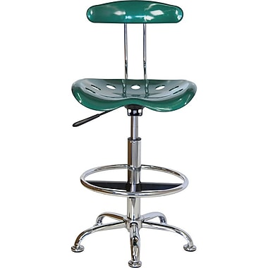 Flash Furniture Low Back Polymer Drafting Stools With Tractor Seat