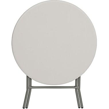 Flash Furniture – Table pliante ronde de 32 po en plastique blanc granite