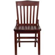 Flash Furniture – Chaise de restaurant au dossier à lattes verticales de la série Hercules, bois d'acajou