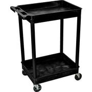 "Luxor® STC Series 37 1/2""(H) 2 Shelves Tub Carts"