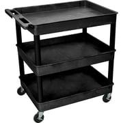 """Luxor® TC Series 37 1/4""""(H) 3 Shelves Large Tub Carts"""