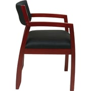 Office Star OSP Designs Fabric Guest Chairs With Upholstered Back
