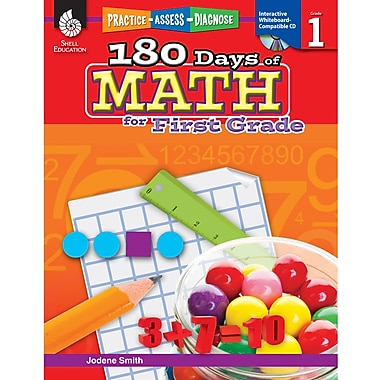 Shell Education Practice, Assess, Diagnose: 180 Days Of Math Book