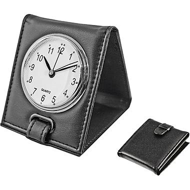 Natico Faux Leather Folding Alarm Clock