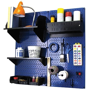Wall Control Craft Center Pegboard Organizer Blue Tool Board and Accessories Kit