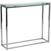 "Euro Style™ Sandor 30 1/2"" x 36"" x 10"" Glass Console Tables"