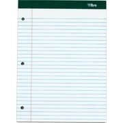 "Double Docket® Legal Notepad, 3-Hole Punched, Legal Rule, White, 100 Sheets, 6 Pads/Pack, 8-1/2"" x 11-3/4"""