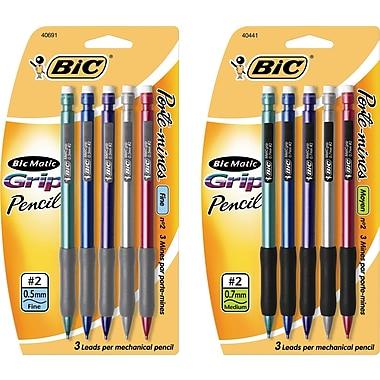BIC® Grip Mechanical Pencil, 5/Pack