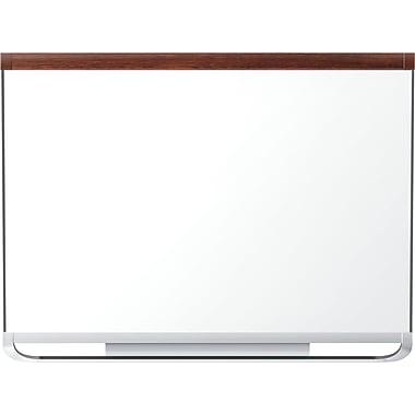 Quartet® Prestige 2® Porcelain Magnetic Dry-Erase Board, Mahogany Frame, 48