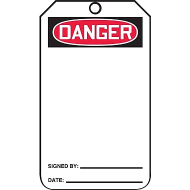 Accuform Signs® Danger Tag, Blank Front, 25/Pack