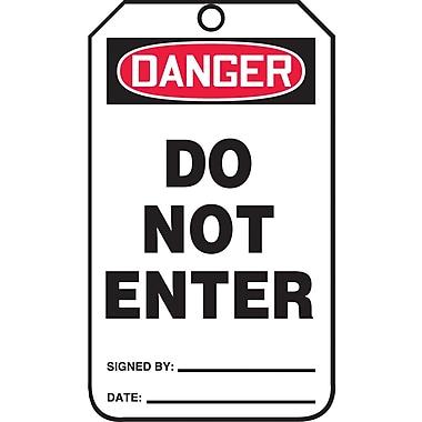 Accuform Signs® - Étiquette « Danger Do Not Enter », paq./25