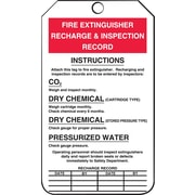 Accuform Signs® - Étiquette « Fire Extinguisher Recharge and Inspection Record »,  paq./25