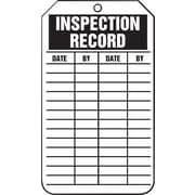 Accuform Signs® - Étiquette « Inspection Record », paq./25