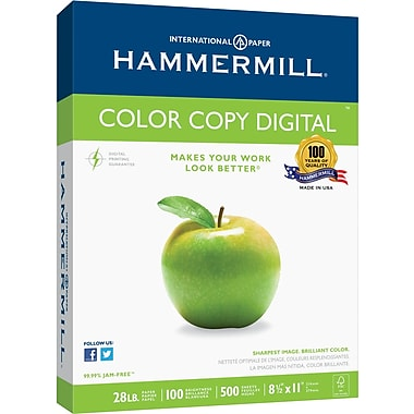 Hammermill® Colour Copy Digital FSC-Certified Paper, 28 lb., 100 Bright, 8.5