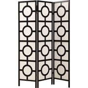 "Monarch 3-Panel ""Circle Design"" Folding Screen"