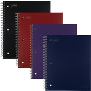 "Staples® Accel Durable Poly Cover Notebooks, 1 Subject, Wide Rule, 8"" x 10-1/2"""