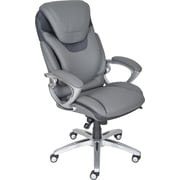 Serta AIR™ Health & Wellness Executive Office Chair, Eco-friendly Bonded Leather, Light Grey