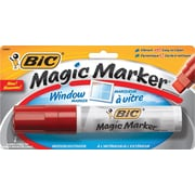 BIC® Magic Marker® Window Markers, Jumbo Chisel Tip, Assorted Colors, Each