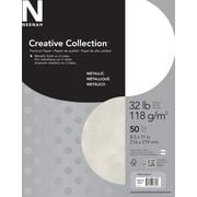 "Neenah Creative Collection™ Metallic Premium Paper, 32 lb., 8-1/2"" x 11"", 50 Sheets/Pack"