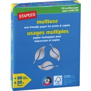 "Staples® FSC-Certified Eco-Responsible Multiuse Paper, 20 lb., 8-1/2"" x 11"""