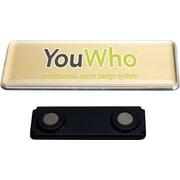 YouWho™ – Trousse d'insignes porte-nom, laser/jet d'encre, 4 unités