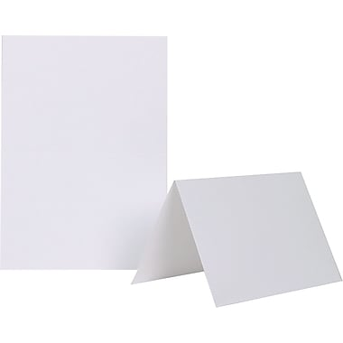 Jam Paper® Smooth Blank Foldover Cards, 5
