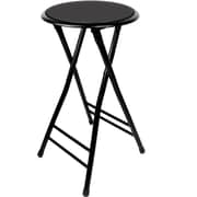 Cushioned Folding Stools, 24 Inch or 18 Inch