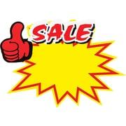 Sale Starburst Sign Cards,12/Pack