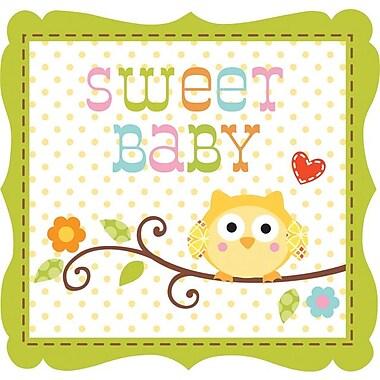 Creative Converting Happi Tree Sweet Baby Boy 3-Ply Beverage Napkins, 16/Pack