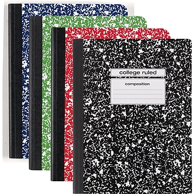 Staples® Composition Notebooks, Marble, Wide Ruled