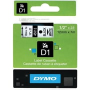 "DYMO® D1 Label Tape, 12mm (1/2"")"