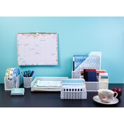 Staples® White Zigzag Desk Storage & Organizer Set