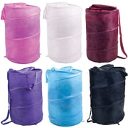 Lavish Home Breathable Pop Up Laundry Clothes Hamper, Assorted Colors