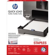 "STAPLES Exclusive, HP® Quick Load Paper, 8 1/2"" x 11"", Letter Size, White"