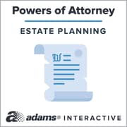 Adams Power of Attorney, 1-User, Instant Web Downloaded Form
