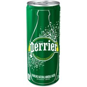 Perrier® Sparkling Natural Mineral Water, 8.45 oz. Slim Can, 10/Pk