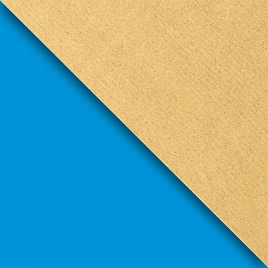 JAM Paper® Industrial Size Wrapping Paper Rolls, Blue & Gold Kraft, 30