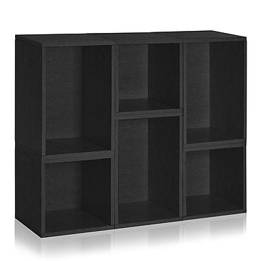 Way Basics Naples Storage Blox 6-Shelf 37.4 inch Eco Friendly Modular Shelving