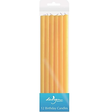 JAM Paper® Birthday Candle Sticks, Tall Solid Colour Candle Sticks, 5