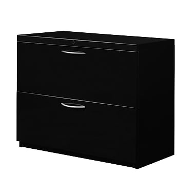 Regency Fusion 2-Drawer Lateral File, Black
