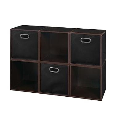 Niche Cubo Storage Set, 6 Cubes and 3 Canvas Bins