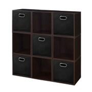 Niche Cubo Storage Set, 9 Cubes and 5 Canvas Bins